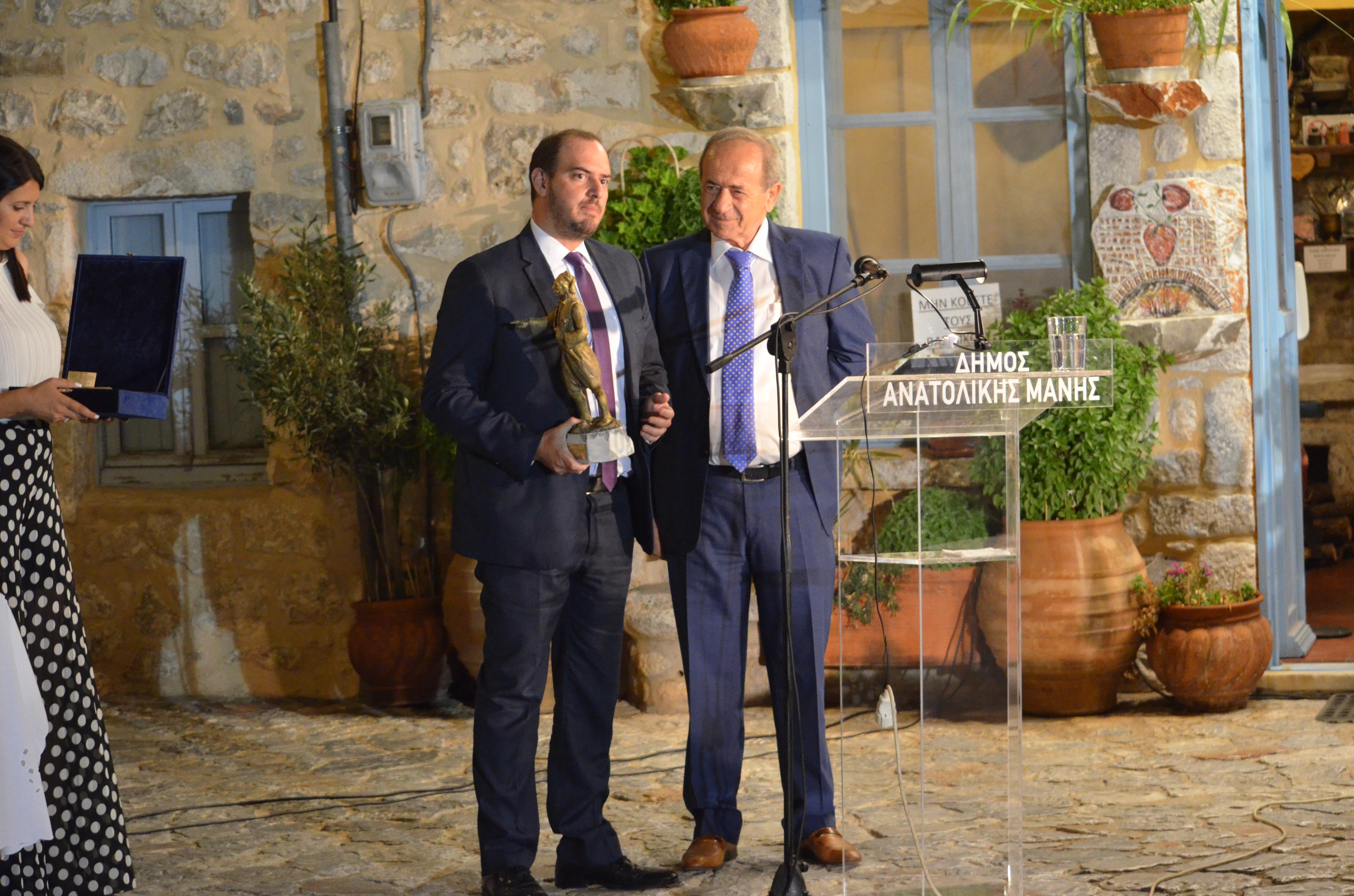 Υφυπουργός Δικαιοσύνης κ. Γεώργιος Κώτσηρας μαζί με τον Δήμαρχο Ανατολικης Μάνης κ. Πέτρο Ανδρεάκο
